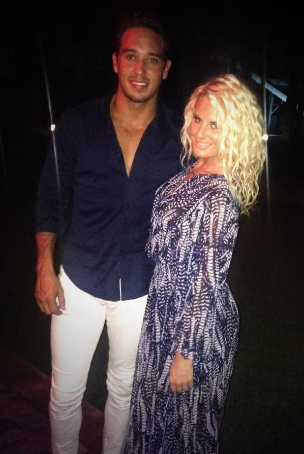 TOWIE's Danielle Armstrong, James 'Lockie' Lock pictured on holiday (29 August).