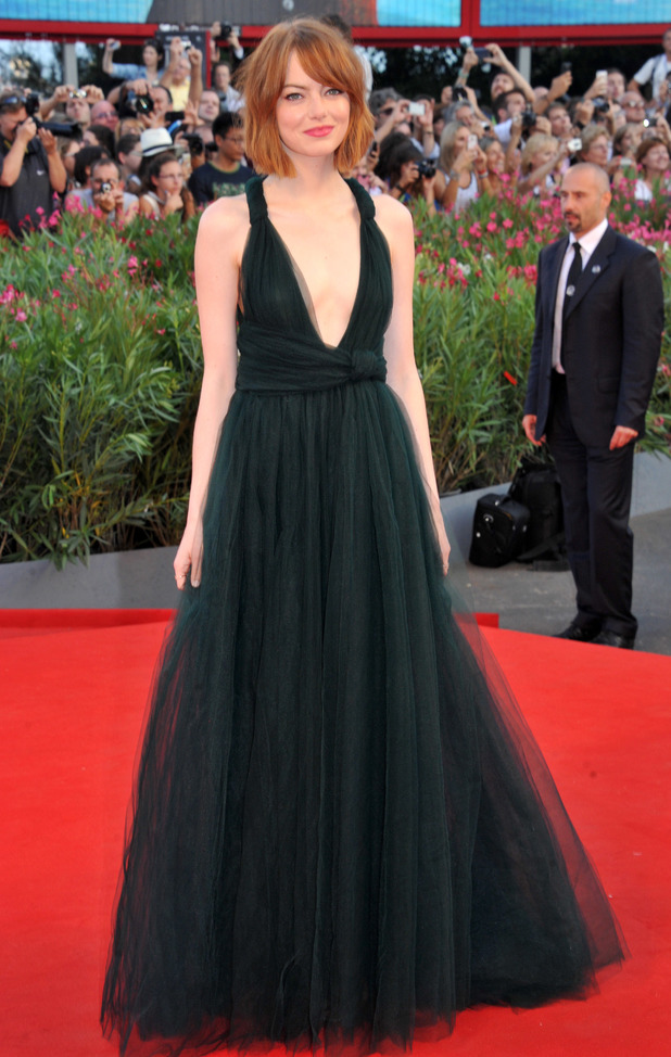 Emma Stone attends the premiere of Birdman at Venice Film Festival in Italy - 27 August 2014