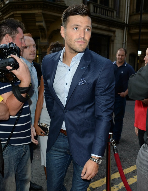Michelle Keegan and Mark Wright arrive Rosso Restaurant for the launch of Heart FM in the North West, 2014