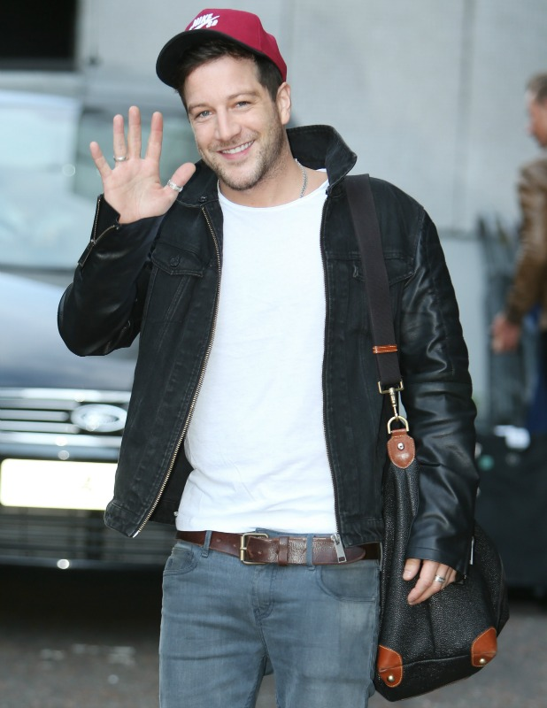 Matt Cardle outside the ITV studios, 29 August 2014