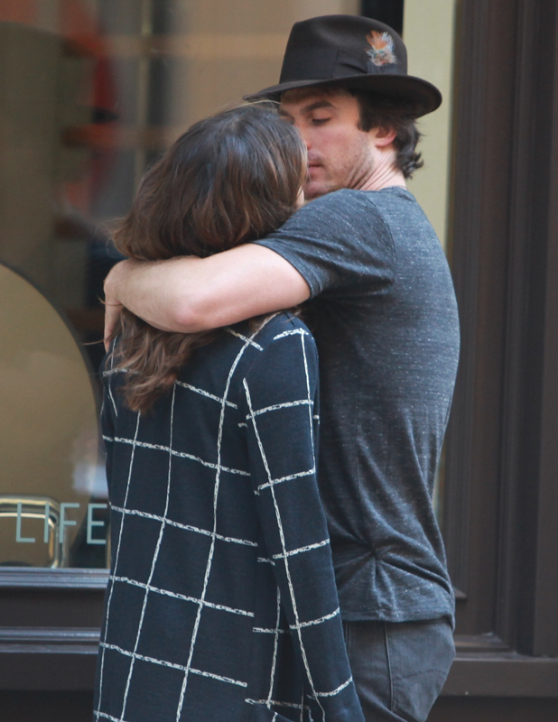 Ian Somerhalder and Nikki Reed out and about, New York, America - 24 Aug 2014