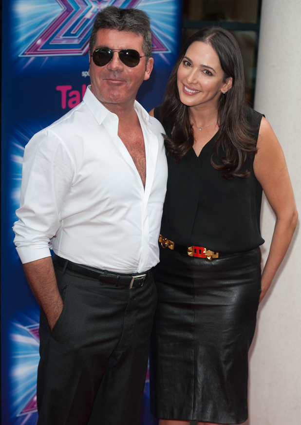 Simon Cowell and Lauren Silverman at X Factor Press Launch held at the Ham Yard Hotel - Arrivals, 27 August 2014