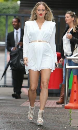 Kimberly Wyatt outside the ITV studios, 28 August 2014