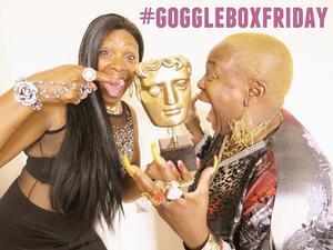 Gogglebox stars pose with bafta - 5 September.