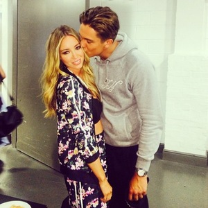 TOWIE couple Lauren Pope and Lewis Bloor put on PDA during filming for ITVBe promo.