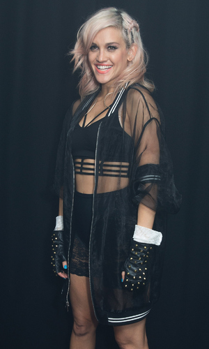 Ashley Roberts poses backstage at G-A-Y club night at Heaven on August 30, 2014 in London, United Kingdom.