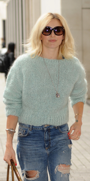 Fearne Cotton arriving outside Radio 1, BBC Studios, London 1 September