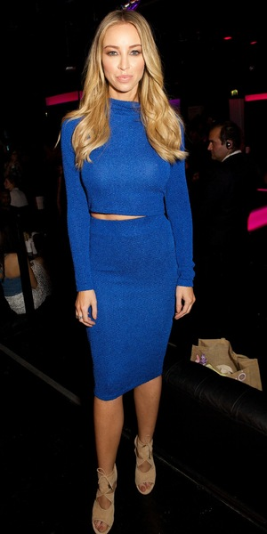 Lauren Pope wears a blue two-piece at the InTheStyle.co.uk party in London, England - 4 September 2014
