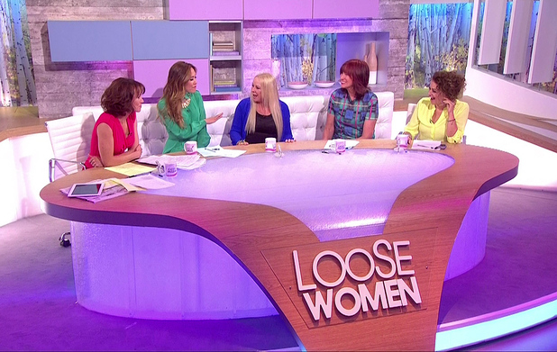 'Loose Women' panel and guests on 16 July 2014.