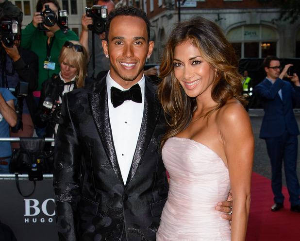 Lewis Hamilton and Nicole Scherzinger, The GQ Awards 2014 held at the Royal Opera House, London 2 September
