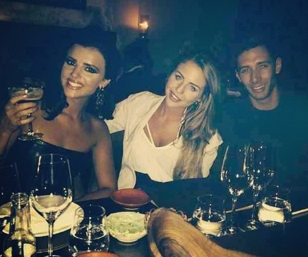 Lucy Mecklenburgh, Lydia Bright and Billy Jacques go for dinner after Tumble, Instagram 31 August