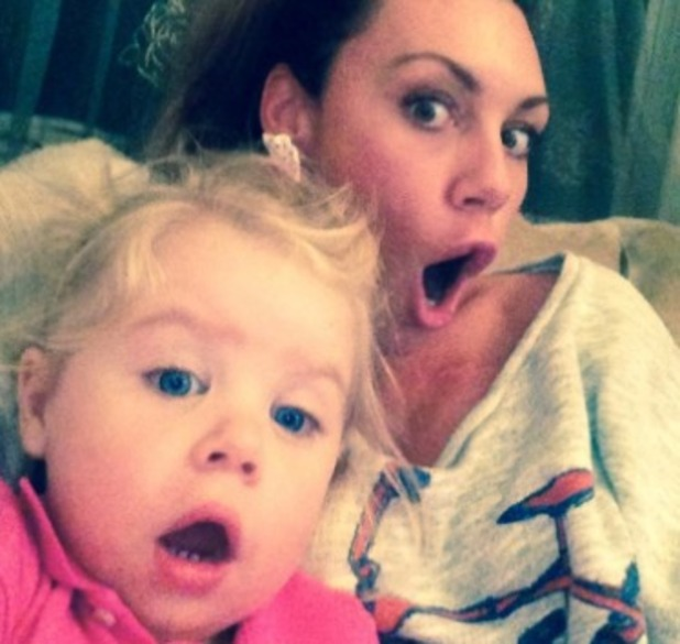 Michelle Heaton watches X Factor with daughter Faith, 6.9.14
