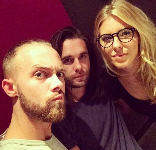Mollie King in glasses backstage at Saturdays tour, 5.9.14