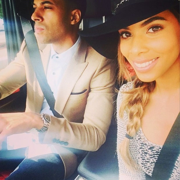 Rochelle Humes is driven around London by husband Marvin for meetings - 3 September 2014
