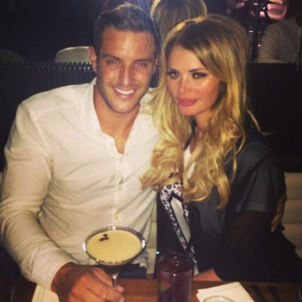 Elliott Wright and Chloe Sims on a date night in London, 5.9.14