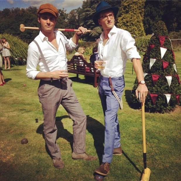 Stevie Johnson and Oliver Proudlock join MIC cast for croquet, London 2 September