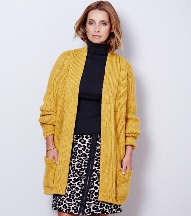 Louise rednapp mustard cardigan