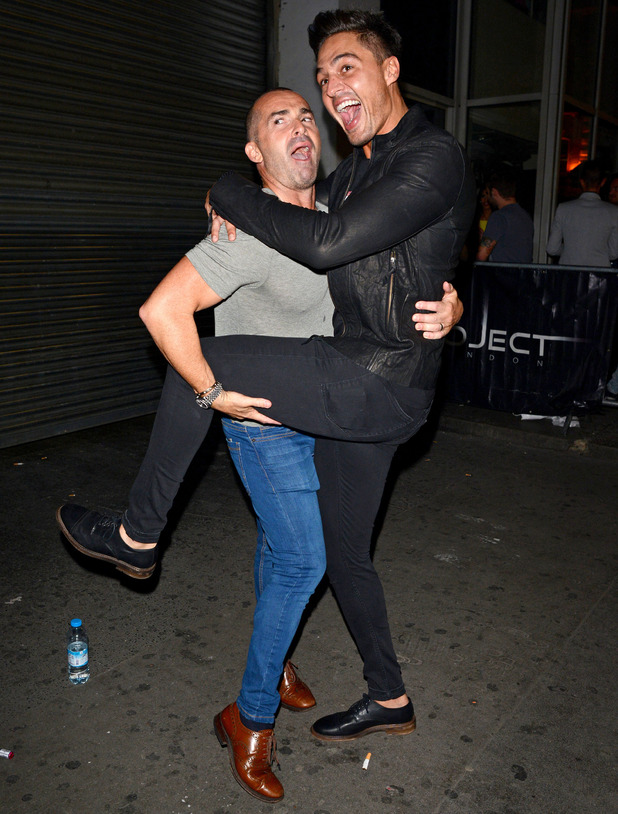 Celebrities leaving the In The Style Party, London, Britain - 04 Sep 2014 Louie Spence and Mario Falcone