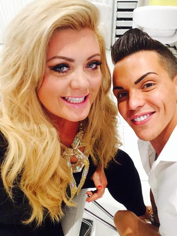 TOWIE's Gemma Collins and Bobby Norris film for new ITVBe channel (1 September).