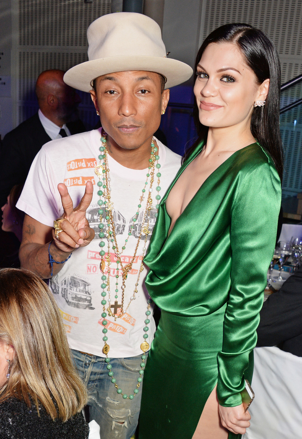 Pharrell Williams (L) and Jessie J attend the GQ Men Of The Year awards in association with Hugo Boss at The Royal Opera House on September 2, 2014 in London, England.
