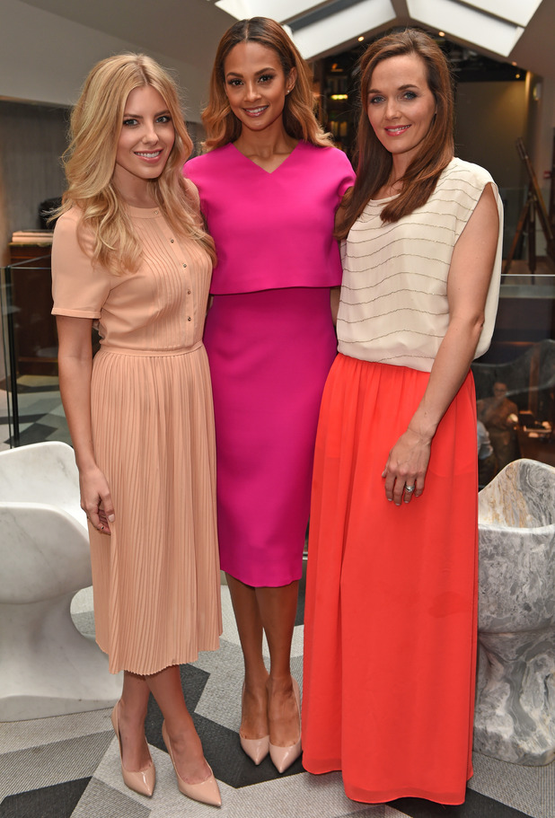 Mollie King, Alesha Dixon and Victoria Pendleton attend the Galaxy RED launch at The Library in London, England - 3 September 2014