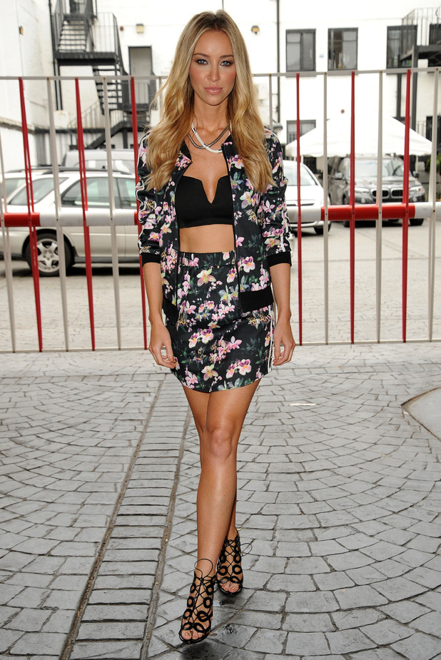 Lauren Pope wears pieces from her autumn/winter '14 range for InTheStyle.com while out in London, England - 3 September 2014