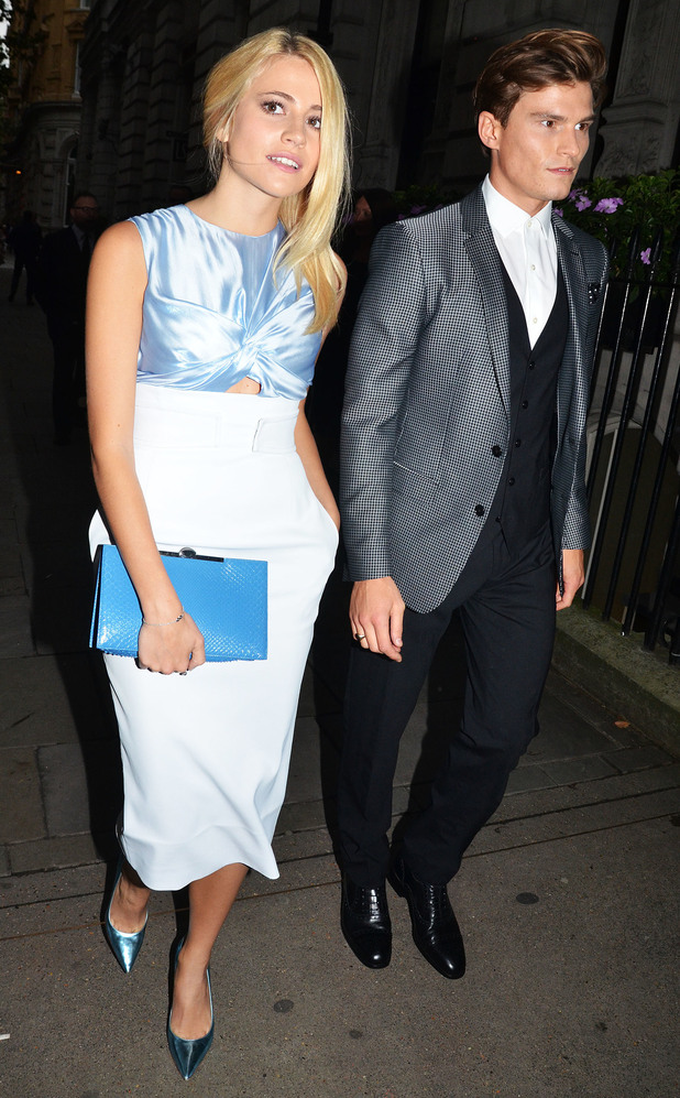 Pixie Lott and Oliver Cheshire attend the Scottish Fashion Awards in London, England - 1 September 2014