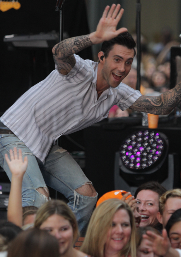 Maroon 5 performs on the 'Today' show as part of their Toyota Concert Series, 1 September 2014