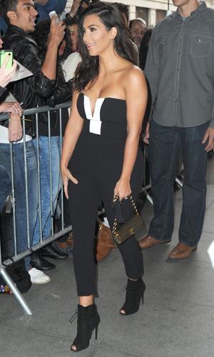 Kim Kardashian at the BBC Radio studios, 3 September 2014