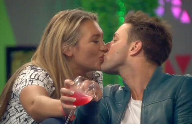 Celebrity Big Brother' TV show, Elstree Studios, Hertfordshire, Britain - 31 Aug 2014 Lauren Goodger kisses Ricci Guarnaccio