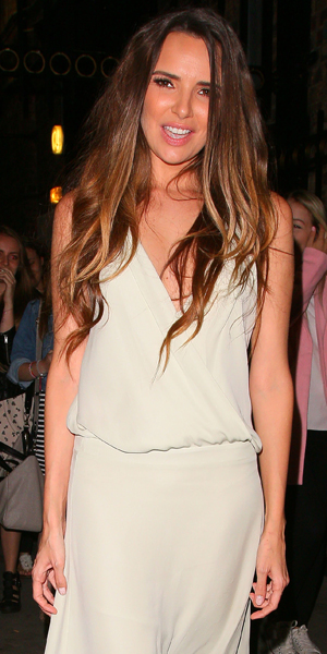 Nadine Coyle leaving the Palladium theatre after her performance in Lord of the Dance Dangerous Games on September 3, 2014 in London, England.