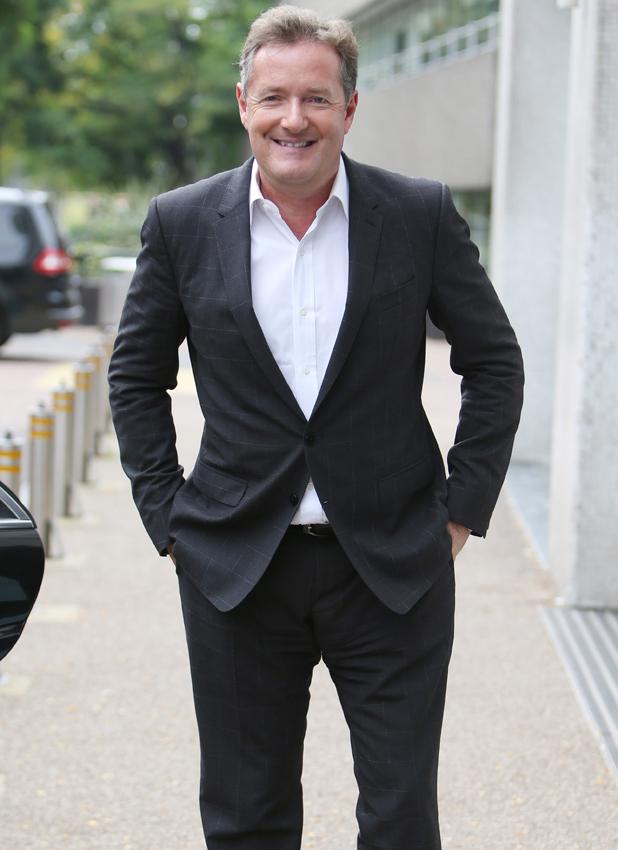 Piers Morgan outside the ITV studios in London, 5 September 2014