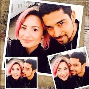Demi Lovato wishes boyfriend Wilmer Valderrama happy birthday 31 January 2014