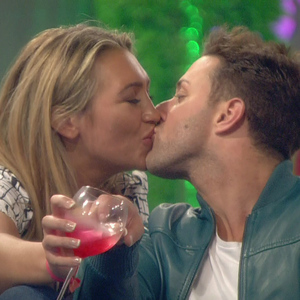 Lauren Goodger and Ricci Guarnaccio kiss in CBB house - 3 September 2014.