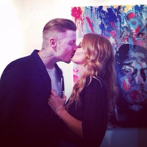 Millie Mackintosh and Professor Green at the launch of Millie's clothing collection in Notting Hill, London - 10 September 2014