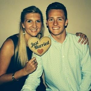 Rebecca Adlington posesnwith husband Harry Needs on honeymoon in Italy - 8 Sep 2014