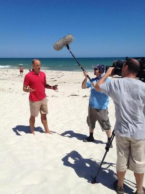 Phil Spencer filming in Australia - 7 March 2013.