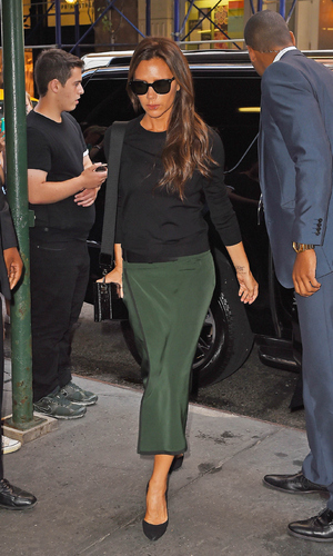 Victoria Beckham is seen on September 7, 2014 in New York City after NYFW show. (Photo by NCP/Star Max/GC Images).