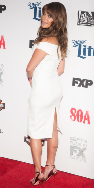 Lea Michele attends FX's 'Sons Of Anarchy' premiere at TCL Chinese Theatre, LA 6 September