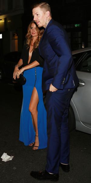 Millie Mackintosh and Professor Green pictured outside Groucho Club in London - 10 September 2014