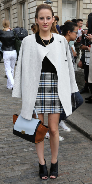Rosie Fortescue attends London Fashion Week at Somerset House - 12 September 2014