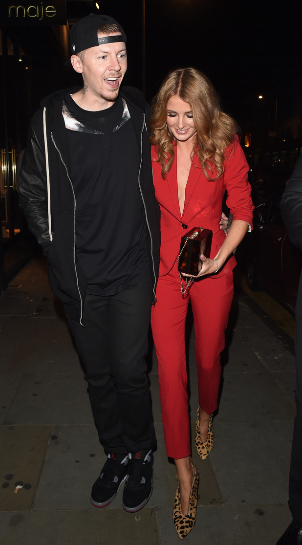 Millie Mackintosh and Professor Green attend the Samsung Galaxy Alpha launch party held at The Collection, London 9 September