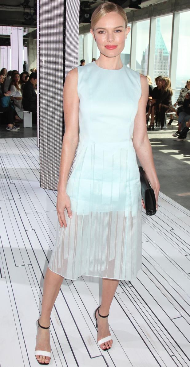 Kate Bosworth at Boss Women show, Spring Summer 2015. 10 September 2014.