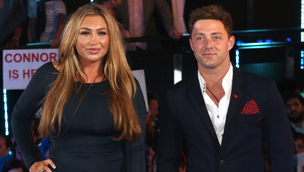 Lauren Goodger, Ricci Guarnaccio: Celebrity Big Brother eviction. 10 sEP 2014