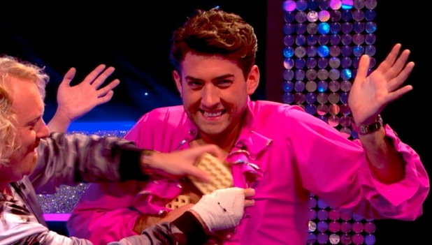 TOWIE's James 'Arg' Argent appears on Celebrity Juice - 11 September 2014