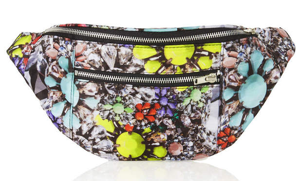 Neon Jewel Bumbag by Jaded London at Topshop, £28