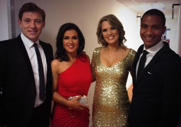 Good Morning Britain stars head to the TV Choice Awards in London, 8 September 2014