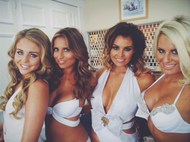 TOWIE's Danielle Armstrong, Jessica Wright, Ferne McCann, Lydia Bright shoot the girls 2015 calendar - 11 Sep 2014