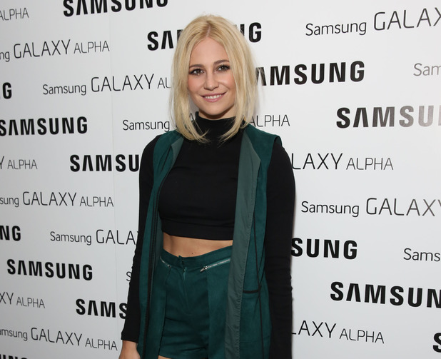 Pixie Lott attends the Samsung Galaxy Alpha launch party held at The Collection, London 9 September