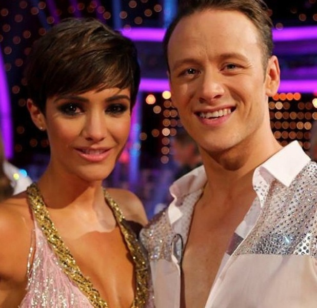 Frankie Bridge and her Strictly Come Dancing partner, Kevin Clifton